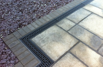 Patio Surface Water Channels.